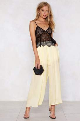 Nasty Gal We Live in Rope Satin Culottes