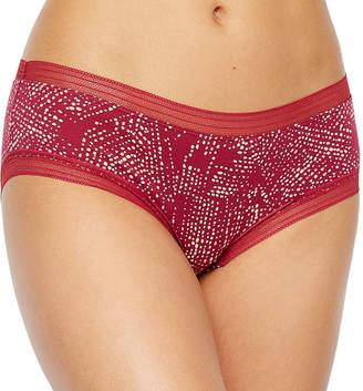 Ambrielle Lace Trim Cotton Hipster Panty