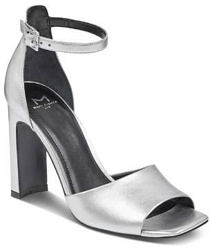 Marc Fisher Women's Harlin Leather High-Heel Ankle Strap Sandals