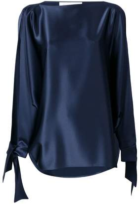 Gianluca Capannolo tie cuff blouse