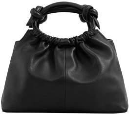 MANGO Knot detail leather bag