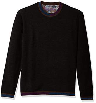 Robert Graham Men's Cooperstown Long Sleeve Sweater Crewneck