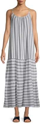BeachLunchLounge Beach Lunch Lounge Striped Linen Blend Long Dress