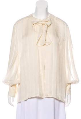 Chanel Long Sleeve Button-Up Top