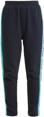 The Upside Side-stripe cotton performance track pants