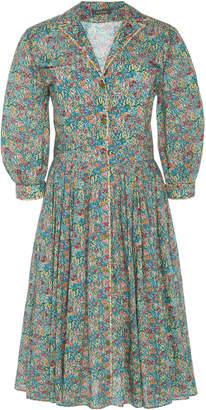 Zac Posen Liberty Cotton Shirt Dress