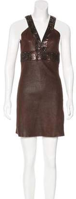 Jitrois Embellished Suede Dress