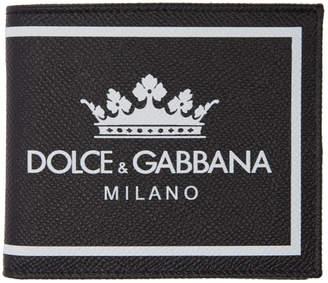 Dolce & Gabbana Black Bifold Logo Wallet