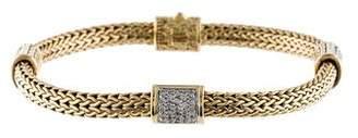 John Hardy Pavé Station Classic Chain Bracelet