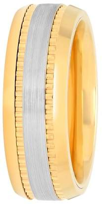 Unbranded Mens Cobalt Two-Tone IP Wedding Band Ring