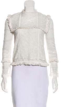 LoveShackFancy Long Sleeve Lace Top