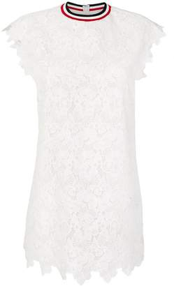 Moncler Gamme Rouge embroidered mini dress