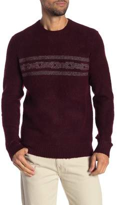 Michael Bastian Striped Boucle Crew Neck Sweater