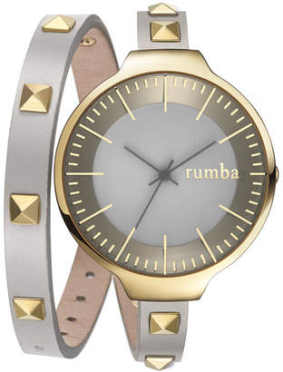 RumbaTime Orchard Double Wrap Pewter Women Watch