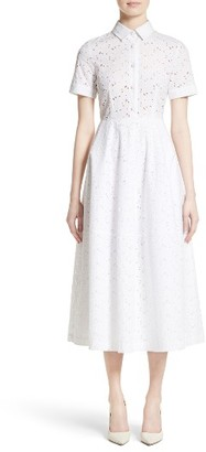 Women's Co Cotton Broderie Anglaise Shirtdress $875 thestylecure.com