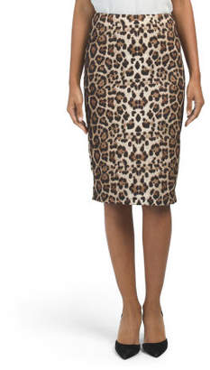 Made In Usa Animal Pencil Skirt