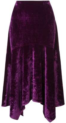 Josie Natori stretch velvet skirt