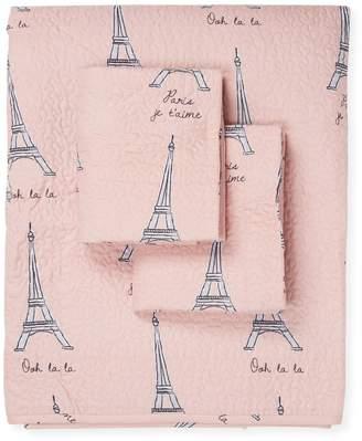 Elite Home Paris Microfiber Quilt Set