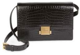 Saint Laurent Medium Bellechase Flap Faux-Crocodile Leather Crossbody Bag