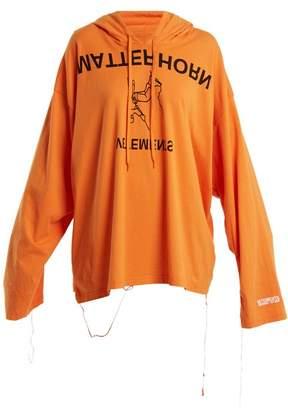 Vetements Printed Hooded Sweatshirt - Womens - Orange