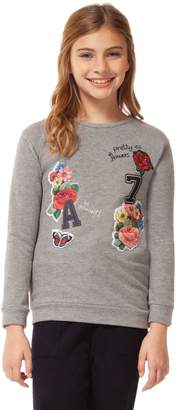 Dex Girl's Graphic Patch Cotton Blend Top