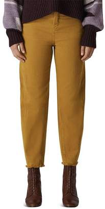 Whistles High Rise Barrel-Leg Jeans in Camel