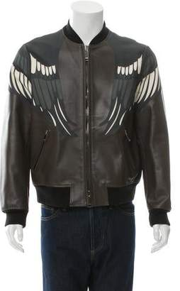 Valentino Leather Bomber Jacket w/ Tags