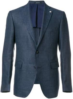 Tagliatore textured slim fit blazer
