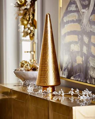 "26"" Gold Mirror Glass Tree"