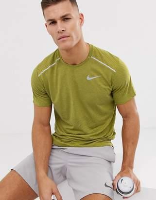 Nike Running Rise 365 t-shirt in khaki