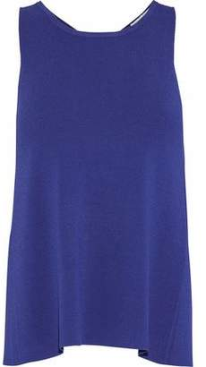 Autumn Cashmere Fluted Stretch-Knit Top