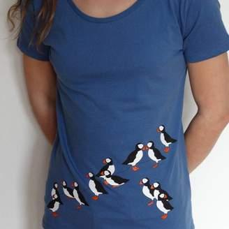 Sarah J Miller Puffin Womens T Shirt