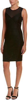 French Connection Mesh Sheath Dress