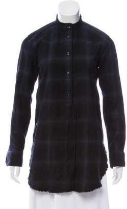 Helmut Lang Plaid Button-Up Tunic