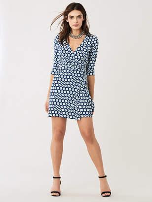 Diane von Furstenberg Julian Silk-Jersey Mini Wrap Dress