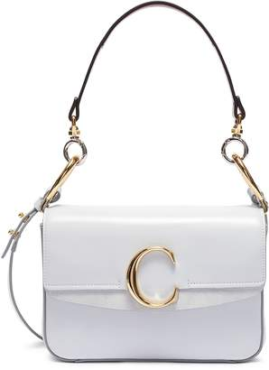 Chloé 'Chloe C' suede panel small leather bag