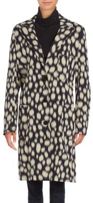 Lanvin Spotted Cotton-Blend Coat