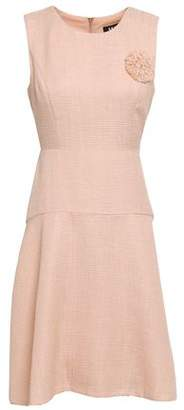 DKNY Brooch-embellished Tweed Mini Dress