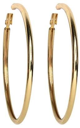Kenneth Jay Lane Small Gold Hoop Pierced Earrings