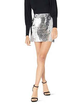 Milly Women's Sequin Modern Mini Skirt with Self Waistband,0