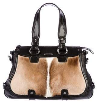 Celine Leather-Trimmed Gazelle Bag