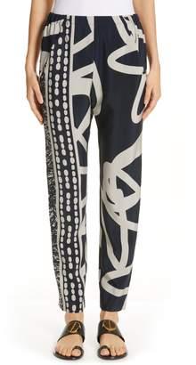 Zero Maria Cornejo Gabi Squiggle & Hair Print Pants