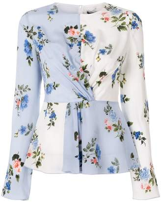Sportmax Code floral print ruched blouse