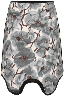 Calvin Klein Asymmetric printed scuba skirt