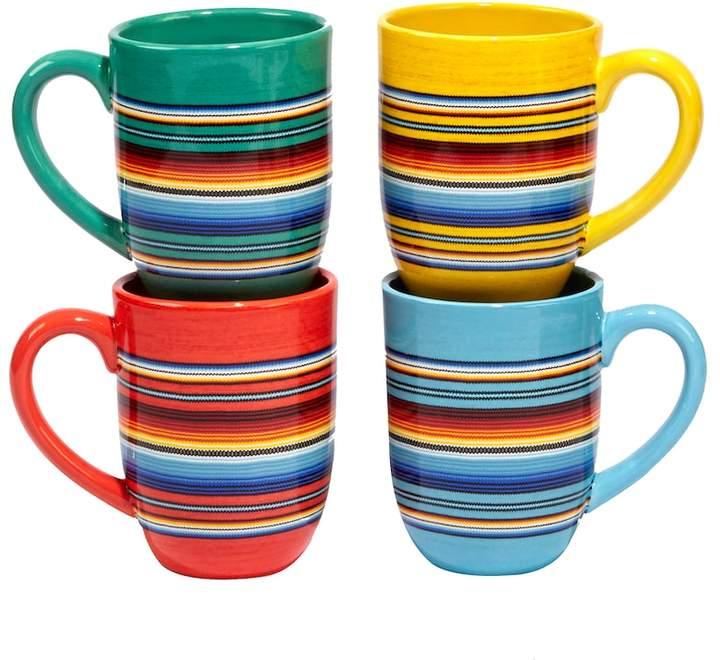 Certified International Pinata 4-pc. Mug Set