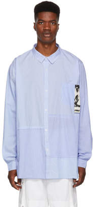 Perks And Mini Blue Planar Stripe Shirt