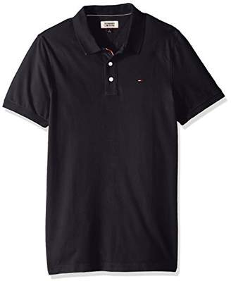 Tommy Hilfiger Tommy Jeans Men's Polo Shirt Slim Fit Original Flag with Short Sleeves