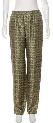 Dolce & Gabbana Silk High-Rise Lounge Pants w/ Tags