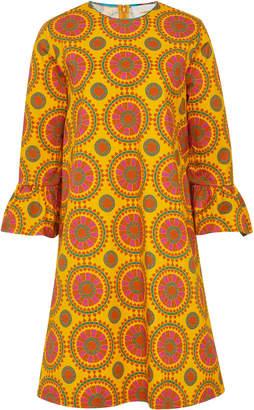 La DoubleJ Printed Cotton-Blend Shift Dress