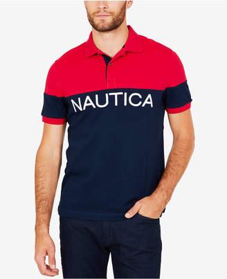 Nautica Men's Logo-Print Polo